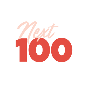Next 100 logo