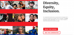 Pledge For Diversity Website Homepage