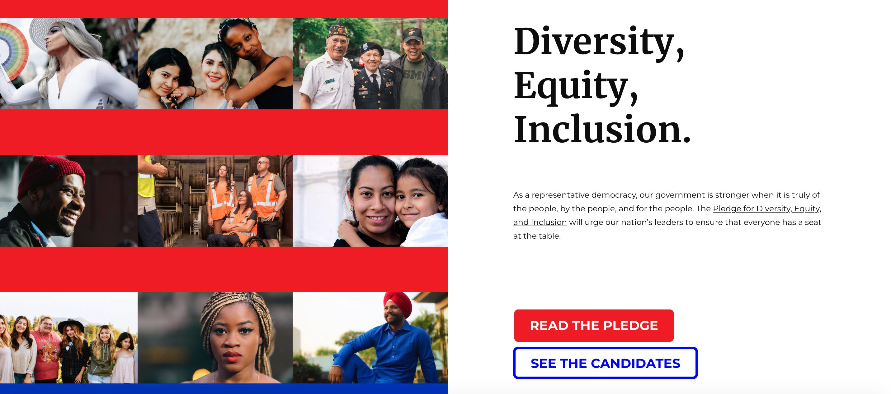 Pledge For Diversity Webpage