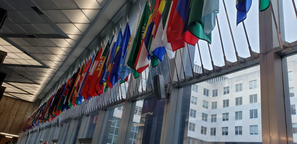 hall of flags at state department